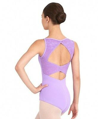 NEW SA MA LA XL Women's Capezio Lace Leotard Black or Lavender Dance Ballet Jazz