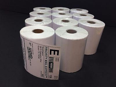 11 Rolls 4x6 Direct Thermal Shipping Labels - 250/roll - Zebra 2844 ZP450 Eltron