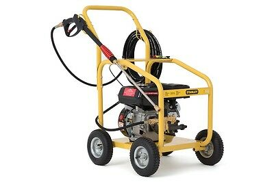 NEW STANLEY 6.5HP 2800PSI High Pressure Washer Cleaner Petrol Water Hose Gurney