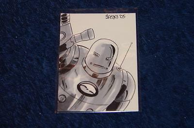 Iron Man Mark Spears Original Color Sketch Card #5 (Ns616)