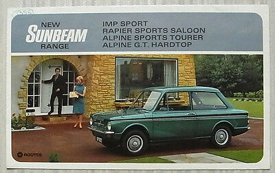 SUNBEAM Car Sales Brochure 1966-67 #9307H IMP SPORT Rapier ALPINE SPORTS & GT