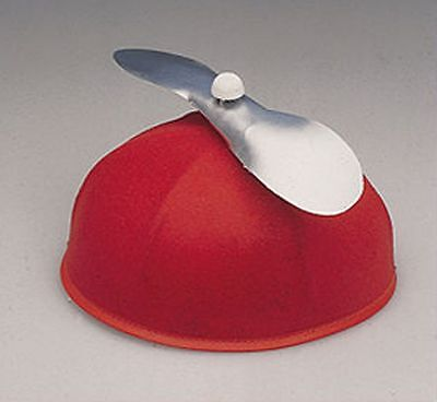 RED Propeller Helicopter Spinning Hat Beanie