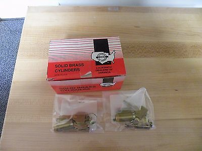 Lot of 10 LSDA Solid Brass Lock Cylinders with Key