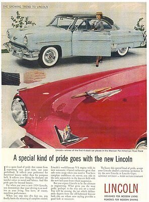 1954 Lincoln - 8X10 Reproduction Photo