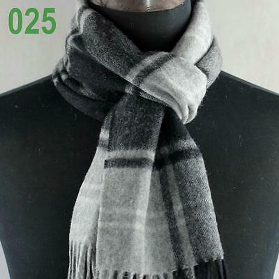 New Mens LONG 72in Warm Cashmere Wool plaid TARTAN SCARF Checked Scarf 149025
