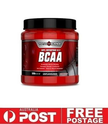 Total Science BCAA 500g Unflavoured | Energy Intra Recovery Muscle Gain Leucine