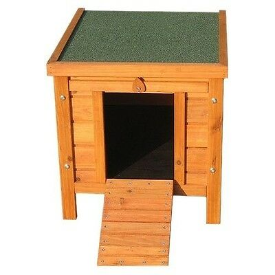 Wooden Cat House Outdoor Kitty Kennel Small Pet Shelter Hideaway Hutch Furniture