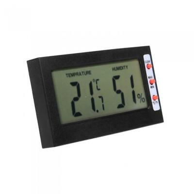 Black Digital LCD Temperature Humidity Meter Thermometer Hygrometer Gauge