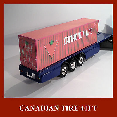 Model Shipping Container Card Kits HO Scale 40ft x3 Rail Freight Canadian Tire