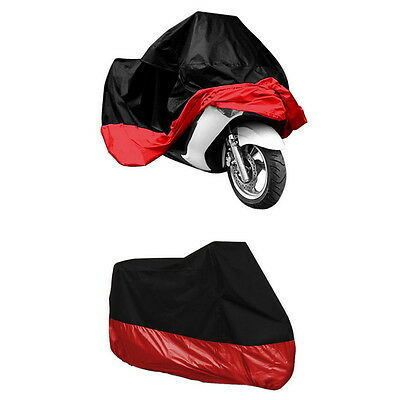 Red Motorcycle Motorbike Waterproof Cover Rain Protection XXXL Free Shiping