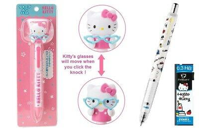 Sanrio Hello Kitty Movable Glasses 0.5mm Mechanical Pencil Free Registered Ship