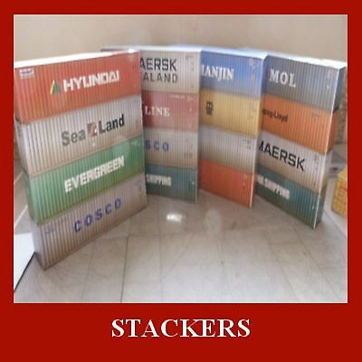 Model Railway HO 1:87 Gauge Stack of 4 Shipping Containers Card Kit x 4 ALL