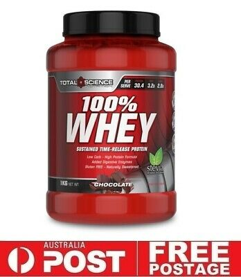 Total Science 100% WHEY 1kg Chocolate   Protein WPI WPC Recovery Stevia
