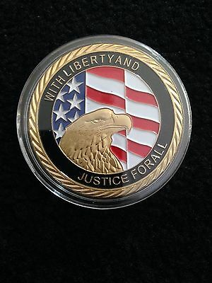 24 Karat Gold Plated 911 Commemorative Coin