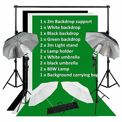 Pro Photography Photo Studio Umbrella Continuous Lighting Light Stand Kit Set