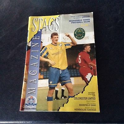 Mansfield Town V Colchester United 27/4/96