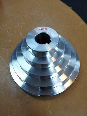 STEP PULLEY 5 LAYERS shaft 24mm lathe use