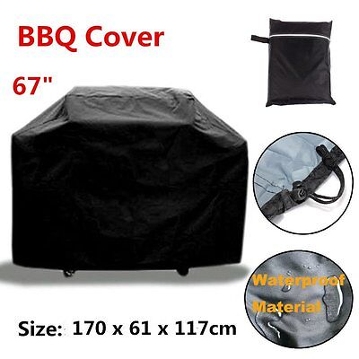 "67"" Large BBQ Cover Outdoor Waterproof Barbecue Garden Patio Grill Protector"