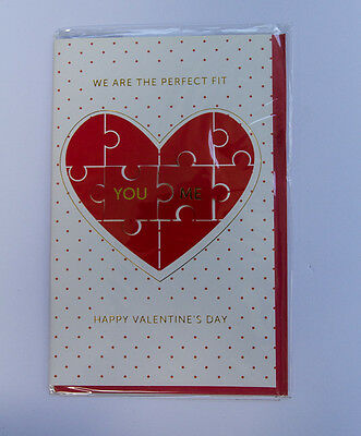 *NEW* *SEALED* Valentines Day Card - We are the perfect fit - by Premium cards