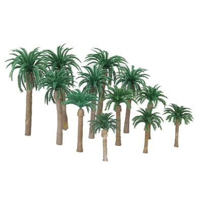 12x Hot Sale Layout Model Train Coconut Palm Tree Forest Scale HO 13-6CM