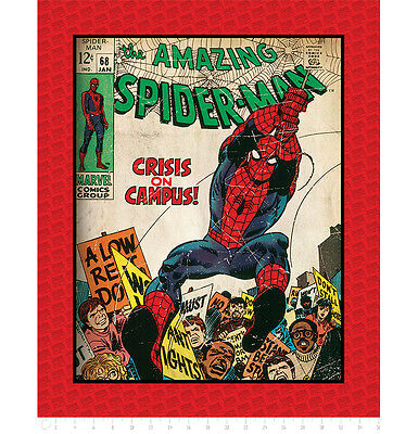 """FABRIC PANEL Camelot Cottons ~ AMAZING SPIDER-MAN ~ by Marvel Comics 36"""" x 44"""""""