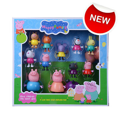 UK New Peppa Pig Friends Action Figures Peppa Friends Gift Toys Set With Box