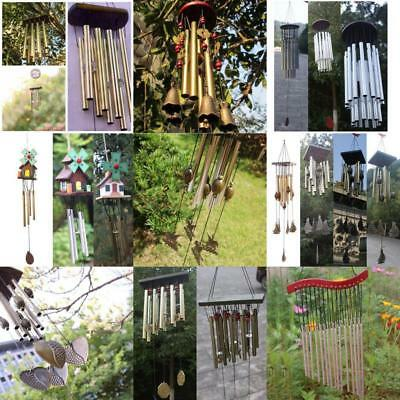 Chinese Tube Bell Lucky Feng Shui Hanging Wind Chimes Yard Garden Outdoor Decor