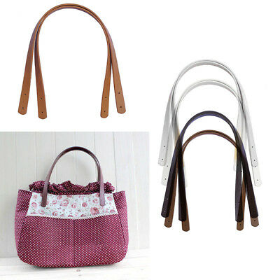 2pcs PU Leather Replacement Shoulder Strap DIY Handbag Purse Tote Bag Fashion