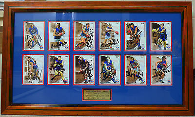 WESTERN BULLDOGS AFL Number 22/100 LIMITED EDITION FRAMED AUTOGRAPHED CARDS