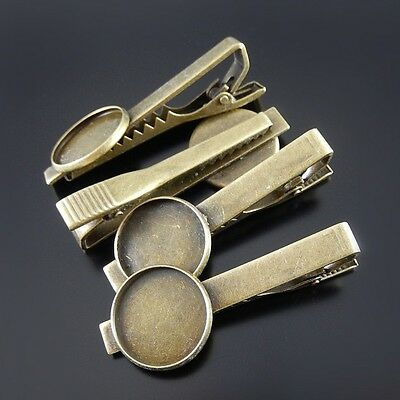5 pcs Jewellery Making Brass Made 18mm Cameo Base Setting Hair Clips Accessories