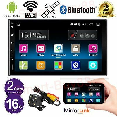 """Quad Core Android 5.1 7"""" Double 2 DIN Car Radio Stereo GPS Bluetooth + Camera"""