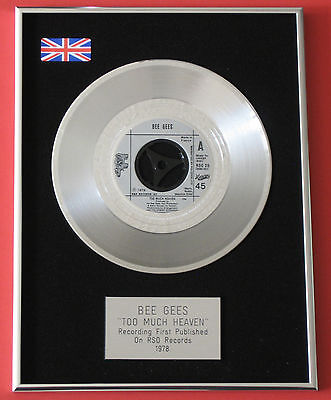 BEE GEES Too Much Heaven PLATINUM Single DISC Presentation