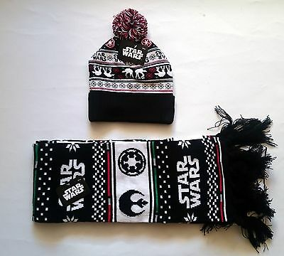 Star Wars Hat And Scarf - Adult Size - Lootcrate Exclusive Limited - New