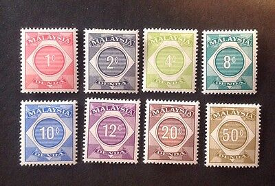 Malaysia Postage Due Set Of 8 Mint Hinged