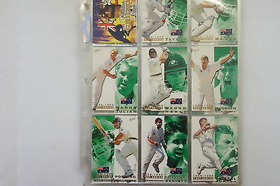 1998/99 Cricket set of 100 cards, 12 World Class, 7 Record Breakers, 4/9 autos