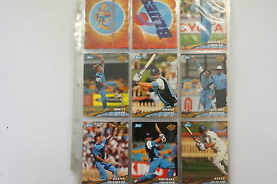 2000/01 Cricket ACB Gold set of 137 cards, 13 signature cards & 2 promos