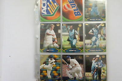 2001/02 Cricket ACB Gold set of 100 cards and 80 chase cards