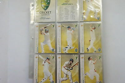 2007/08 Cricket Select set of 120 cards, 116/120 parallel, 46/60 chase, 4 promos