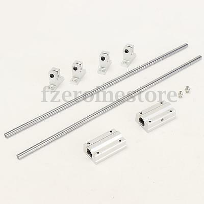 2X 400mm Rod Rail + 2X SCS8LUU Bloque Lineal Linear + 4X SK8 Soporte Extremo Kit