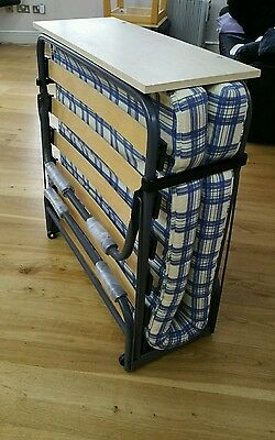 Folding Single Visitor Z Guest Bed With Mattress And Headboard   Great Condition
