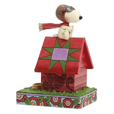 Snoopy Peanuts Figurine Jim Shore Flying Ace Collectable Dog Ornament Gift Boxed