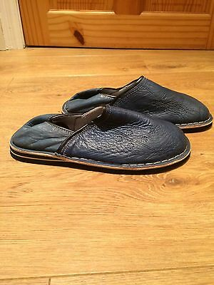 Mens Slippers Size 7 Blue Marocan Slippers