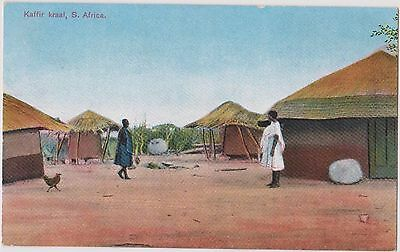 Thoughtful Antique Present?  South African Native Village About 1910. Wonderful.