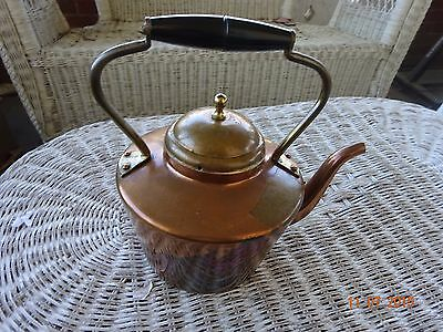 Vintage Estoril Copperware Teapot/Tea Kettle Hand Crafted In Portugal