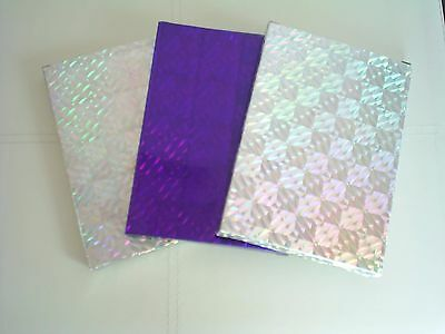 3 holographic  dvd/game gift boxes  2  silver & 1  purple