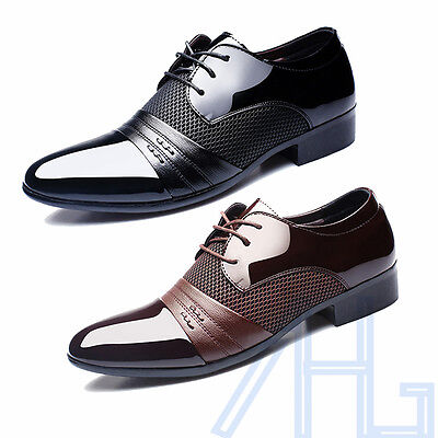 Fashion Men's Dress Wedding Formal Oxfords Leather Shoes Business Casual Shoes