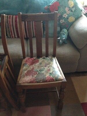 Four Wooden Dining Chairs