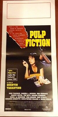 Pulp Fiction Quentin Tarantino locandina originale italiana 33x70