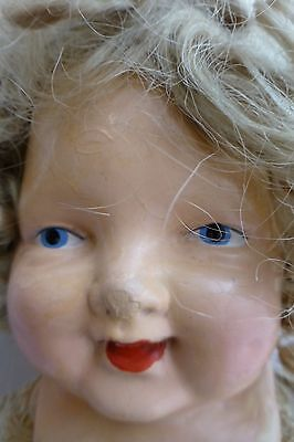 """1910's 26""""  Doll Composition and Cloth Painted Eye So Cute!"""