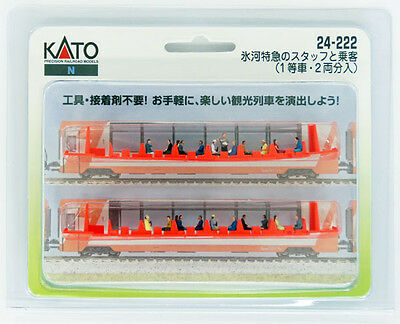 "Kato 24-222 Model People ""Glacier Express Crew and Passengers"" (N scale)"